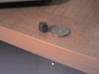 Sorry the picture is blurry... my knob is smaller than a quarter